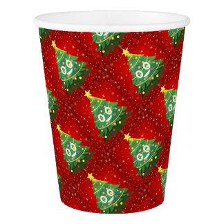 Emoji Xmas Tree Design Paper Cup