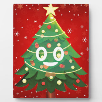 Emoji Xmas Tree Design Plaque