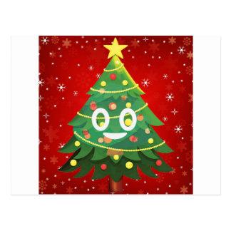 Emoji Xmas Tree Design Postcard