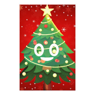 Emoji Xmas Tree Design Stationery
