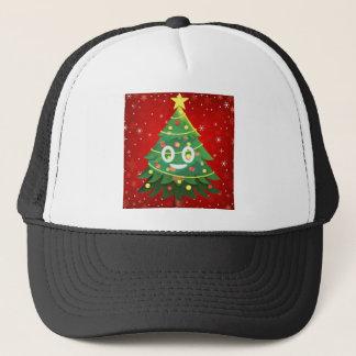 Emoji Xmas Tree Design Trucker Hat