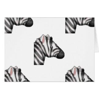 emoji zebra card