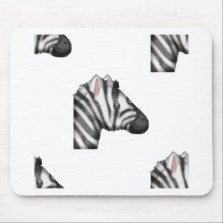 emoji zebra mouse pad