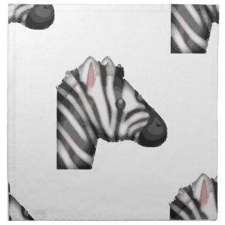 emoji zebra napkin