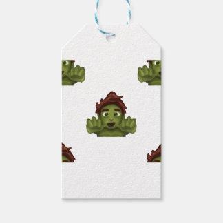 emoji zombie man gift tags