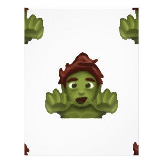 emoji zombie man letterhead