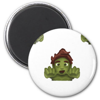 emoji zombie man magnet