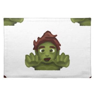 emoji zombie man placemat