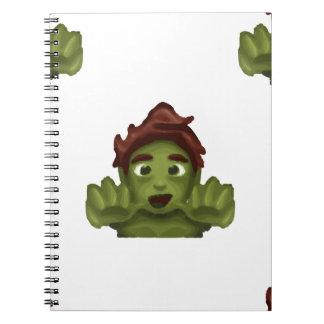 emoji zombie man spiral notebook