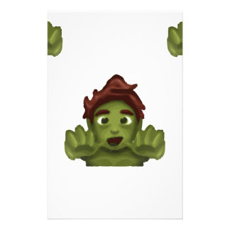 emoji zombie man stationery