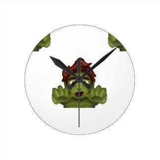 emoji zombie man wallclock