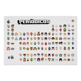 Emojis Periodic Poster