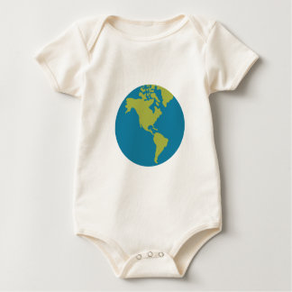 Emojis Planet Earth World Continents Designs Baby Bodysuit