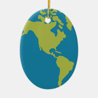 Emojis Planet Earth World Continents Designs Ceramic Ornament