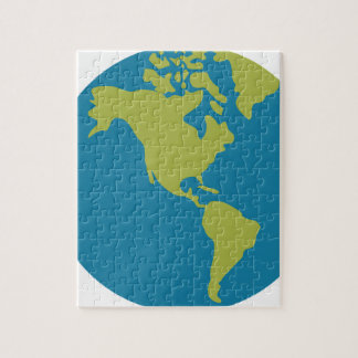 Emojis Planet Earth World Continents Designs Jigsaw Puzzle