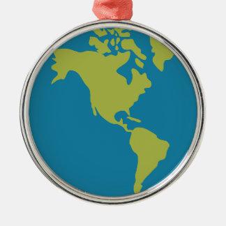 Emojis Planet Earth World Continents Designs Metal Ornament