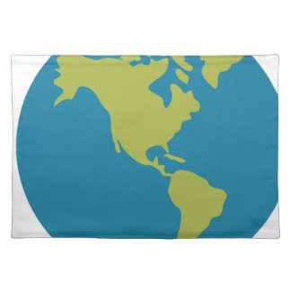Emojis Planet Earth World Continents Designs Placemat