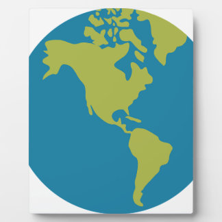 Emojis Planet Earth World Continents Designs Plaque