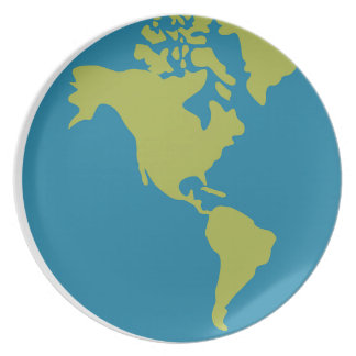 Emojis Planet Earth World Continents Designs Plate