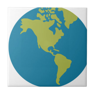 Emojis Planet Earth World Continents Designs Tile