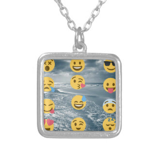 Emojis Silver Plated Necklace