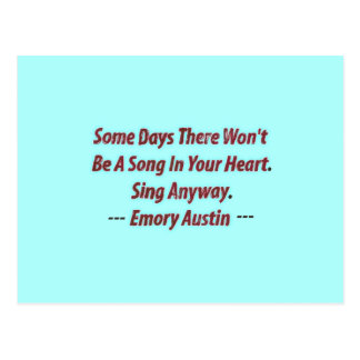 Emory Austin Inspirational, Motivational Quote. Postcard