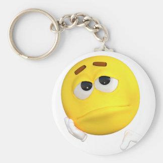 emoticon-1634515 basic round button keychain