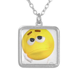 emoticon-1634515 silver plated necklace