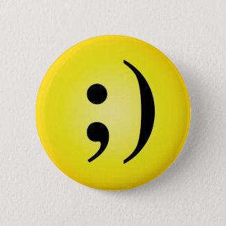 Emoticon 2 Inch Round Button
