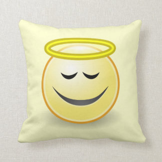 Emoticon Angel Throw Pillow