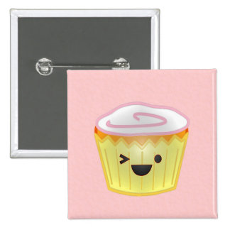Emoticon Cupcake Pins