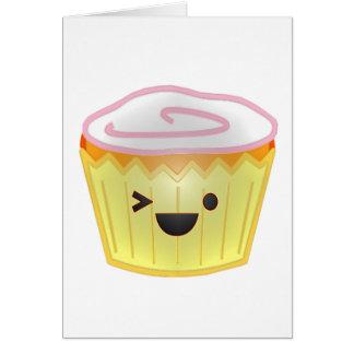 Emoticon Cupcake Card