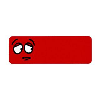 Emoticon Customized Return Address Label