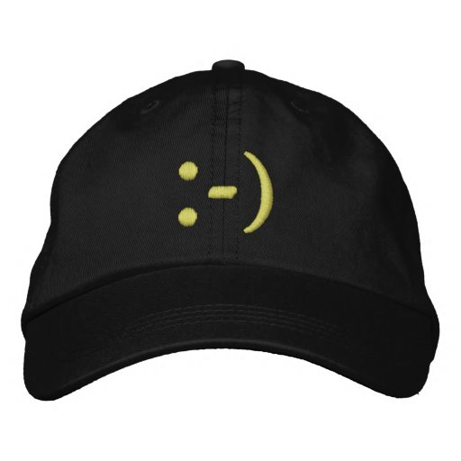 Emoticon Embroidered Baseball Caps