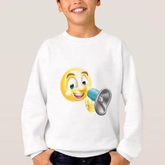 Emoticon Emoji Holding Mega Phone Sweatshirt