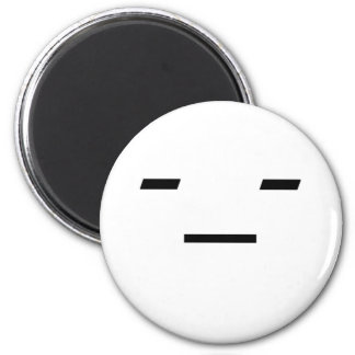 Emoticon: Not Amused Magnet