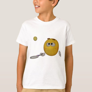 Emoticon practices tennis T-Shirt