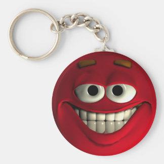 Emoticon Red Keychain