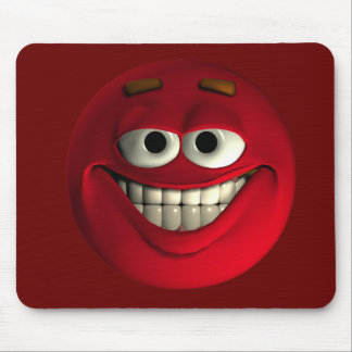 Emoticon Red Mouse Pad