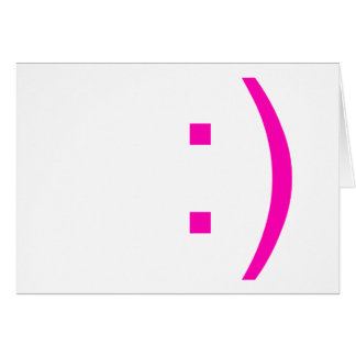 emoticon smiley face card