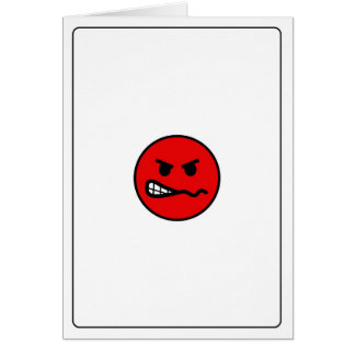 Emoticons - Angry Card
