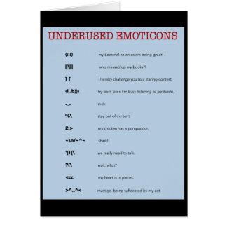 Emoticons: cards