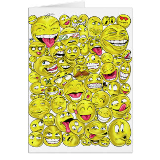 Emoticons Greeting Card