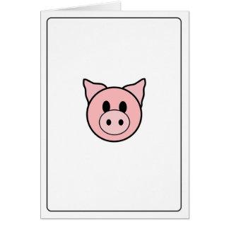 Emoticons - Piggie Card