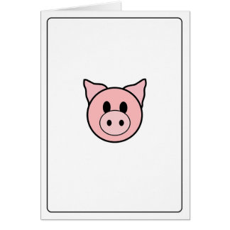 Emoticons - Piggie Greeting Card