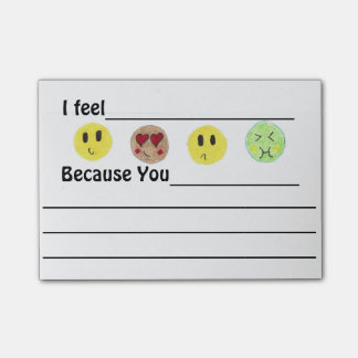 Emotion Expressing Emoji Post-its Post-it Notes