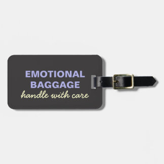 Emotional Baggage: Handle With Care- Purple Yellow Luggage Tag