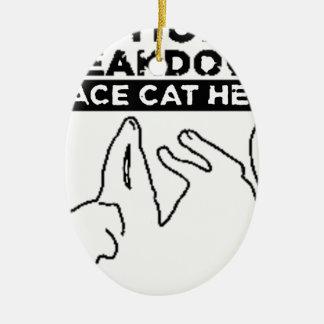 EMOTIONAL BREAKDOWN CAT CERAMIC ORNAMENT