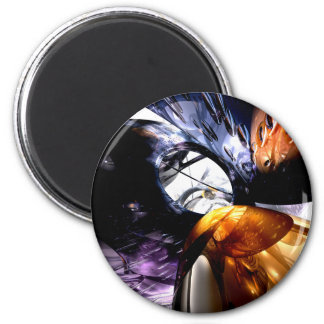 Emotional Scars Abstract Magnet