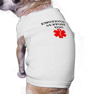 Emotional Support Dog Service Animal Tank Top Tee Pet Clothing